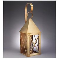 Northeast Lantern York 1 Light Outdoor Wall Lantern in Antique Brass 7051-AB-CIM-CLR