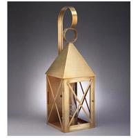 Northeast Lantern 7051-AB-CIM-CLR York 1 Light 27 inch Antique Brass Outdoor Wall Lantern in Clear Glass, Chimney, Medium