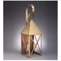 Northeast Lantern York 2 Light Outdoor Wall Lantern in Antique Brass 7051-AB-LT2-CLR