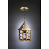 York 1 Light 5 inch Antique Brass Hanging Lantern Ceiling Light in Clear Glass