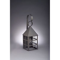 Northeast Lantern 7131-DB-MED-CLR York 1 Light 19 inch Dark Brass Outdoor Wall Lantern in Clear Glass, Medium