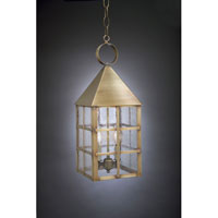 Northeast Lantern 7142-AB-LT2-SMG York 2 Light 7 inch Antique Brass Hanging Lantern Ceiling Light in Seedy Marine Glass, Candelabra photo thumbnail