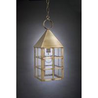 Northeast Lantern York 1 Light Hanging Lantern in Antique Brass 7142-AB-MED-SMG photo thumbnail