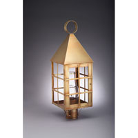 Northeast Lantern York 1 Light Post in Antique Brass 7153-AB-CIM-CLR