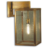 Northeast Lantern 7527-DAB-MED-CSG Midtown 1 Light 18 inch Dark Antique Brass Outdoor Wall Lantern in Clear Seedy Glass Medium