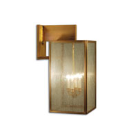 Midtown 4 Light 28 inch Antique Brass Outdoor Wall Lantern in Seedy Marine Glass, Candelabra