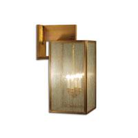 Northeast Lantern 7547-AB-LT4-SMG Midtown 4 Light 28 inch Antique Brass Outdoor Wall Lantern in Seedy Marine Glass, Candelabra