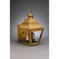 Northeast Lantern Stanfield 2 Light Outdoor Wall Lantern in Antique Brass 7611-AB-LT2-CLR