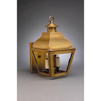 Northeast Lantern 7611-AB-LT2-CLR Stanfield 2 Light 13 inch Antique Brass Outdoor Wall Lantern in Clear Glass, Candelabra