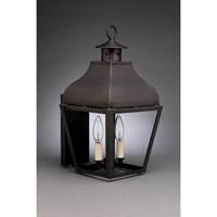Northeast Lantern 7631-DB-LT2-CLR Stanfield 2 Light 18 inch Dark Brass Outdoor Wall Lantern in Clear Glass, Candelabra