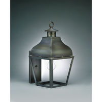 Northeast Lantern Stanfield 1 Light Outdoor Wall Lantern in Dark Brass 7631-DB-MED-CLR