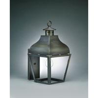 Northeast Lantern 7631-DB-MED-CLR Stanfield 1 Light 18 inch Dark Brass Outdoor Wall Lantern in Clear Glass, Medium
