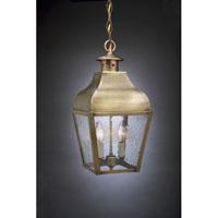 Northeast Lantern 7632-AB-LT2-CSG Stanfield 2 Light 9 inch Antique Brass Hanging Lantern Ceiling Light in Clear Seedy Glass, Candelabra