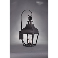 Northeast Lantern Stanfield 2 Light Outdoor Wall Lantern in Dark Brass 7637-DB-LT2-CLR