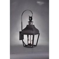 Northeast Lantern 7637-DB-LT2-CLR Stanfield 2 Light 22 inch Dark Brass Outdoor Wall Lantern in Clear Glass, No Chimney, Candelabra