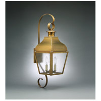 Stanfield 2 Light 27 inch Antique Brass Outdoor Wall Lantern in Seedy Marine Glass, No Chimney, Candelabra