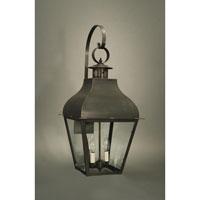 Northeast Lantern 7647-DB-LT2-CLR Stanfield 2 Light 30 inch Dark Brass Outdoor Wall Lantern in Clear Glass, No Chimney, Candelabra