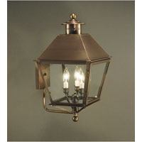 Northeast Lantern Jamestown 3 Light Outdoor Wall Lantern in Dark Antique Brass 7837-DAB-LT3-CLR
