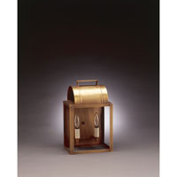Northeast Lantern Livery 2 Light Outdoor Wall Lantern in Antique Brass 8021-AB-LT2-CLR