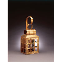 Northeast Lantern Lynn 1 Light Outdoor Wall Lantern in Antique Brass 8131-AB-CIM-CLR
