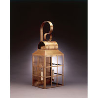 Northeast Lantern Lynn 2 Light Outdoor Wall Lantern in Antique Brass 8141-AB-LT2-CLR