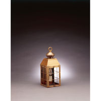 Northeast Lantern Woodcliffe 1 Light Outdoor Wall Lantern in Antique Brass 8311-AB-LT1-CLR