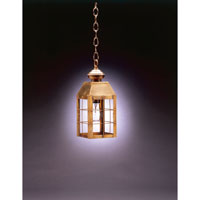 Northeast Lantern Woodcliffe 1 Light Hanging Lantern in Antique Brass 8312-AB-MED-CLR
