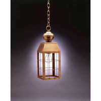 Northeast Lantern Woodcliffe 1 Light Hanging Lantern in Antique Brass 8332-AB-MED-CLR