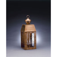 Northeast Lantern 8341-AB-CIM-CLR Woodcliffe 1 Light 19 inch Antique Brass Outdoor Wall Lantern in Clear Glass, Chimney, Medium