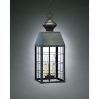 Northeast Lantern Woodcliffe 3 Light Hanging Lantern in Dark Brass 8352-DB-LT3-CLR