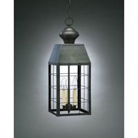 Northeast Lantern 8352-DB-LT3-CLR Woodcliffe 3 Light 8 inch Dark Brass Hanging Lantern Ceiling Light in Clear Glass