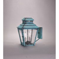 Elryan 2 Light 9 inch Verdi Gris Wall Lantern Wall Light in Seedy Marine Glass, Candelabra