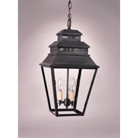 Northeast Lantern Elryan 3 Light Pendant in Dark Brass 8642-DB-LT3-CLR
