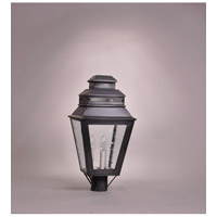 Northeast Lantern Elryan 3 Light Post Mount in Dark Brass 8643-DB-LT3-CSG