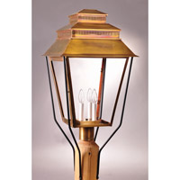 Northeast Lantern Elryan 3 Light Post Mount in Antique Brass 8653-AB-LT3-CLR