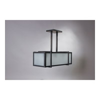 Essex 3 Light 25 inch Dark Brass Pendant Ceiling Light in Frosted Glass