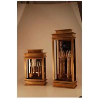 Northeast Lantern 8811-AB-LT2-CLR-PM Empire 2 Light 16 inch Antique Brass Outdoor Wall Lantern in Clear Glass Plain Mirror