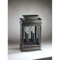 Northeast Lantern Empire 2 Light Outdoor Wall Lantern in Dark Brass 8811-DB-LT2-CLR-PM