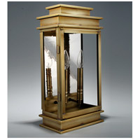 Northeast Lantern Empire 2 Light Outdoor Wall Lantern in Antique Brass 8831-AB-LT2-CLR