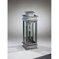 Empire 1 Light 16 inch Dark Brass Outdoor Wall Lantern in Clear Glass, Plain Mirror
