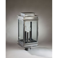 Northeast Lantern 8933-DB-LT3-CLR Empire 3 Light 22 inch Dark Brass Post Lantern in Clear Glass photo thumbnail