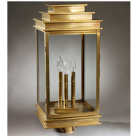 Northeast Lantern Empire 3 Light Post in Antique Brass 8953-AB-LT3-CLR