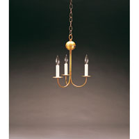 Signature 3 Light 10 inch Antique Brass Chandelier Ceiling Light