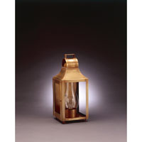 Northeast Lantern Livery 1 Light Outdoor Wall Lantern in Antique Brass 9031-AB-CIM-CLR