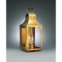 Northeast Lantern Livery 1 Light Outdoor Wall Lantern in Antique Brass 9031W-AB-CIM-CLR