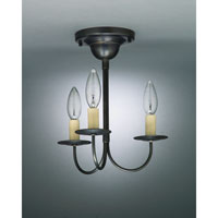 Signature 3 Light 10 inch Dark Brass Chandelier Ceiling Light