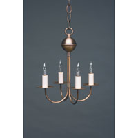 Northeast Lantern Signature 4 Light Chandelier in Antique Brass 904-AB-LT4