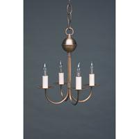 Northeast Lantern 904-AB-LT4 Signature 4 Light 11 inch Antique Brass Chandelier Ceiling Light