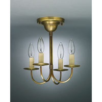 Signature 4 Light 11 inch Antique Brass Chandelier Ceiling Light