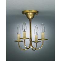 Northeast Lantern 904F-AB-LT4 Signature 4 Light 11 inch Antique Brass Chandelier Ceiling Light